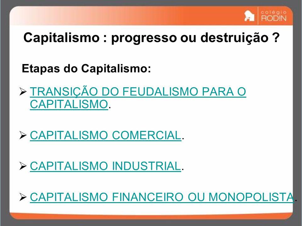 Capitalismo : progresso ou destruição