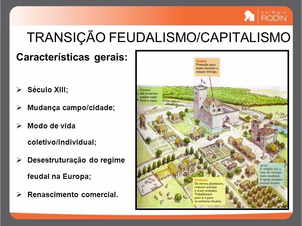 TRANSIÇÃO FEUDALISMO/CAPITALISMO