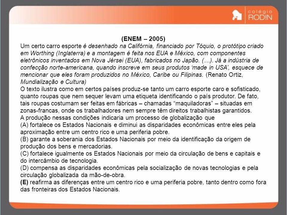 (ENEM – 2005)