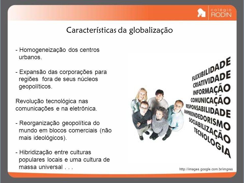 Características da globalização
