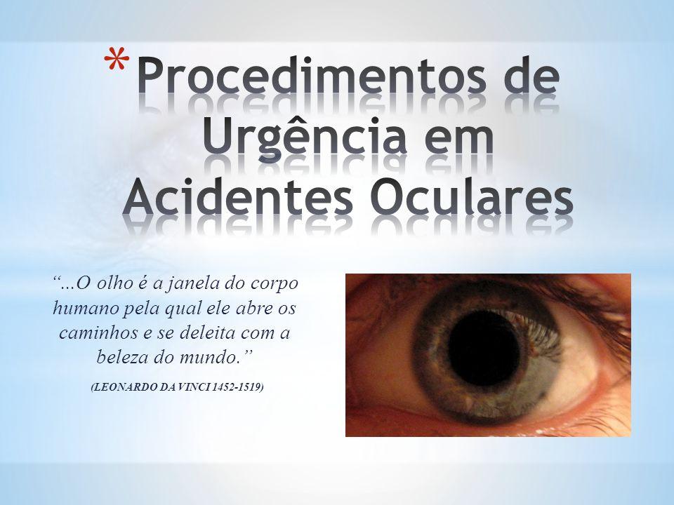 Procedimentos de Urgência em Acidentes Oculares