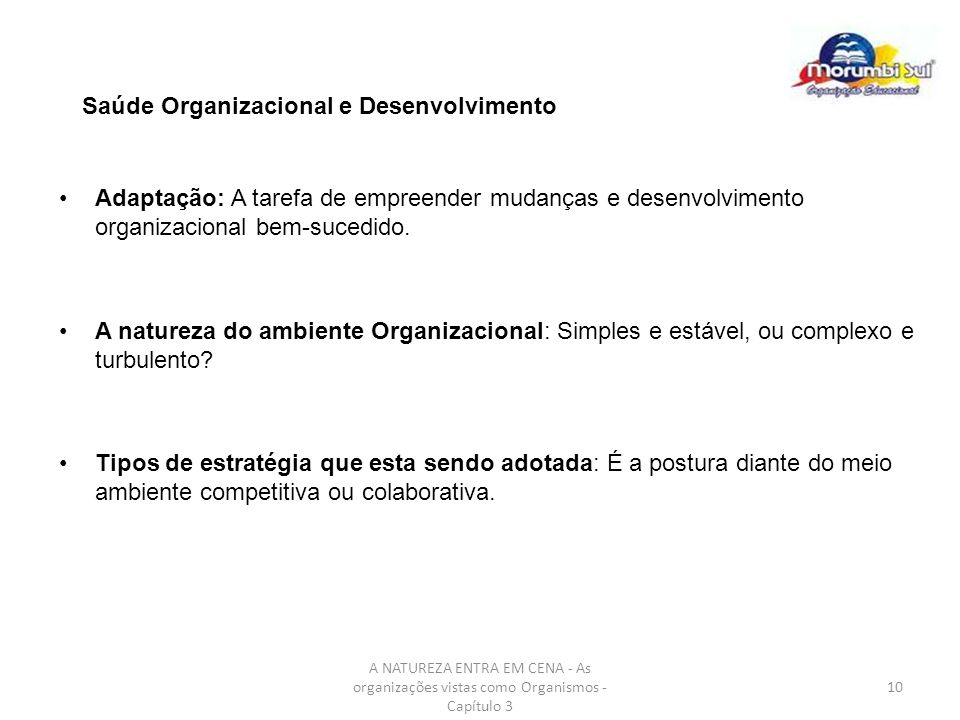 Saúde Organizacional e Desenvolvimento