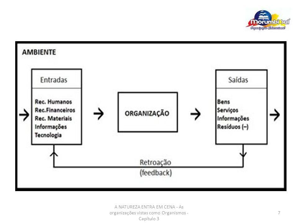 A NATUREZA ENTRA EM CENA - As organizações vistas como Organismos - Capítulo 3