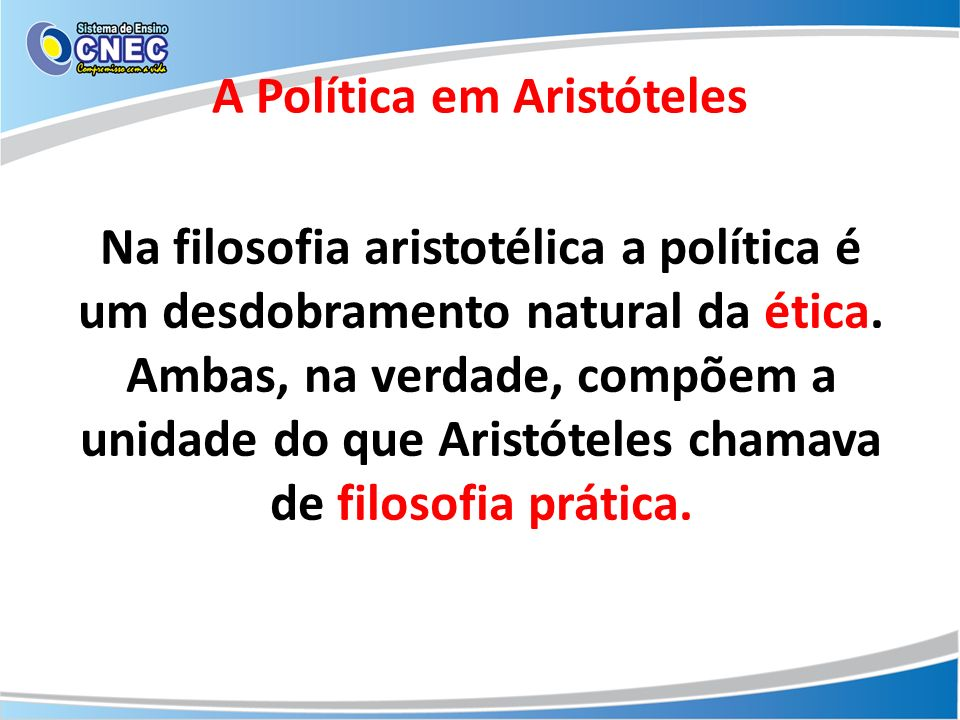 A Política em Aristóteles