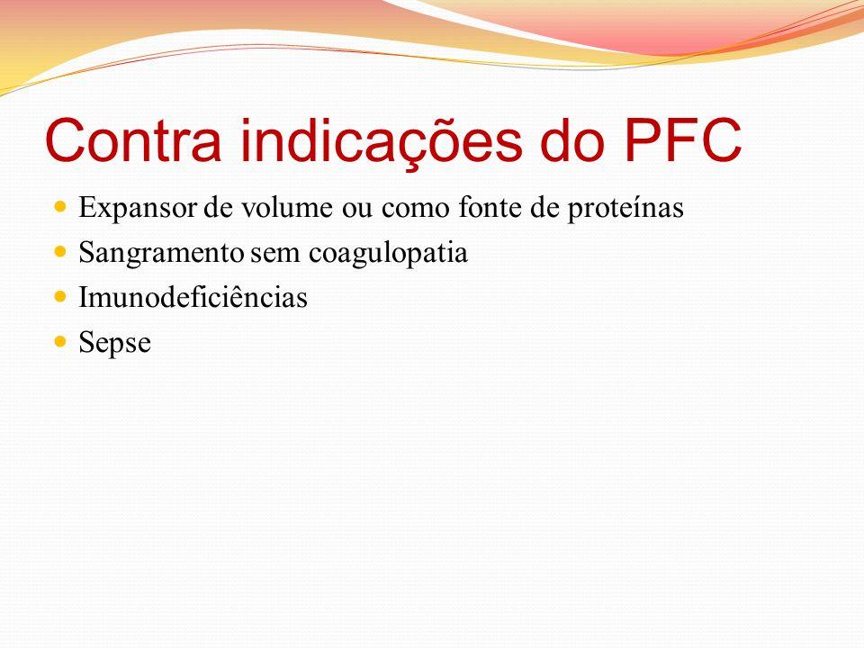 Contra indicações do PFC