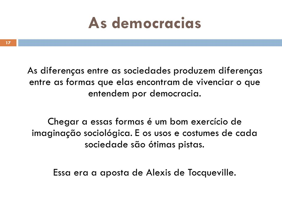 As democracias