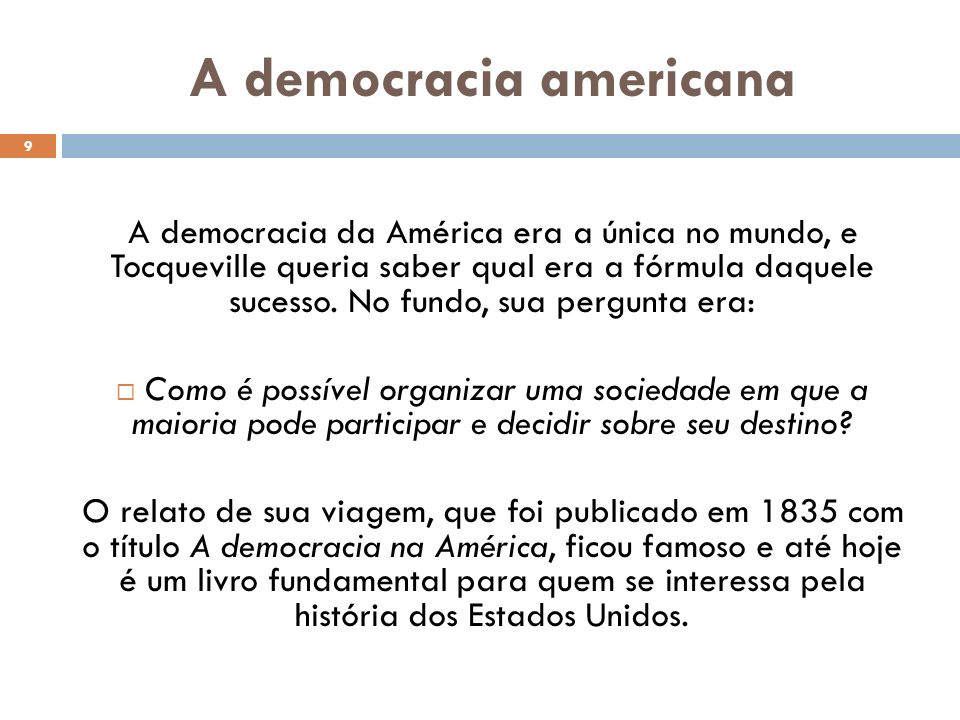 A democracia americana