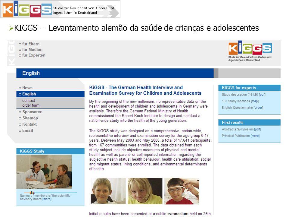 KIGGS – Levantamento alemão da saúde de crianças e adolescentes