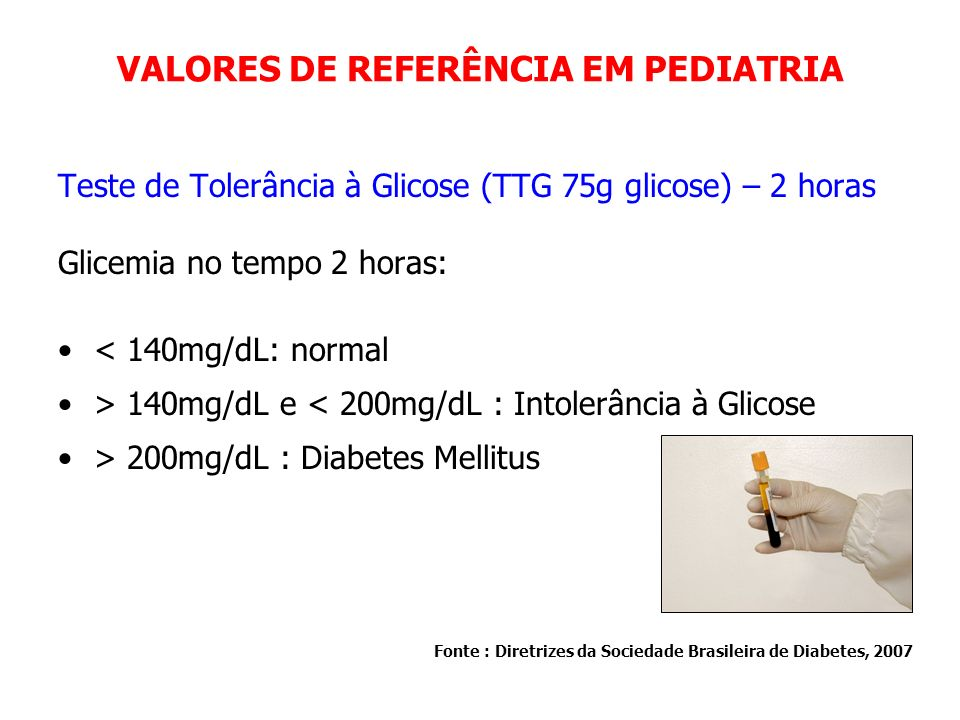 VALORES DE REFERÊNCIA EM PEDIATRIA