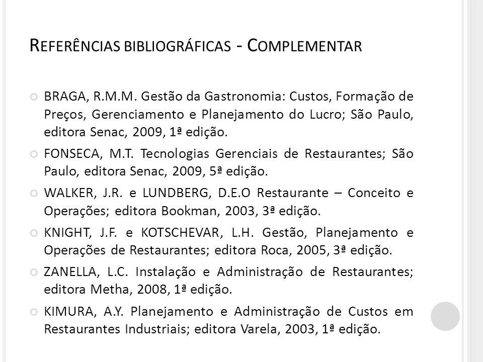 Referências bibliográficas - Complementar