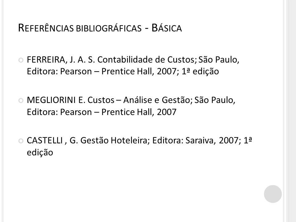 Referências bibliográficas - Básica