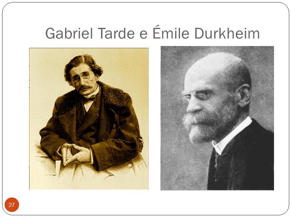 Gabriel Tarde e Émile Durkheim