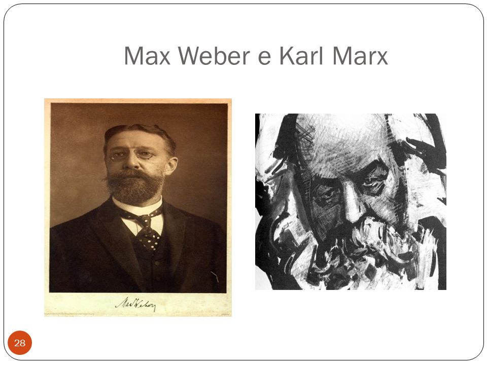 Max Weber e Karl Marx