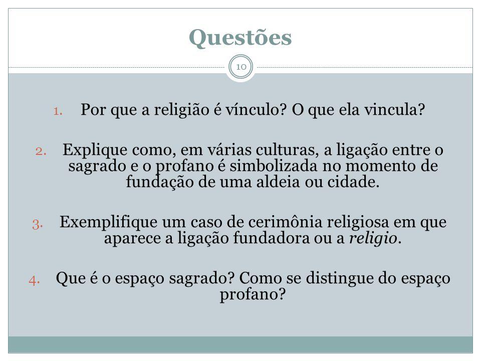 Questões Por que a religião é vínculo O que ela vincula