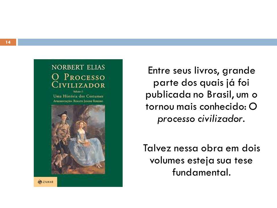 Entre seus livros, grande parte dos quais já foi publicada no Brasil, um o tornou mais conhecido: O processo civilizador.