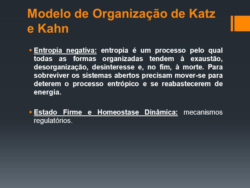 Modelo de Organização de Katz e Kahn