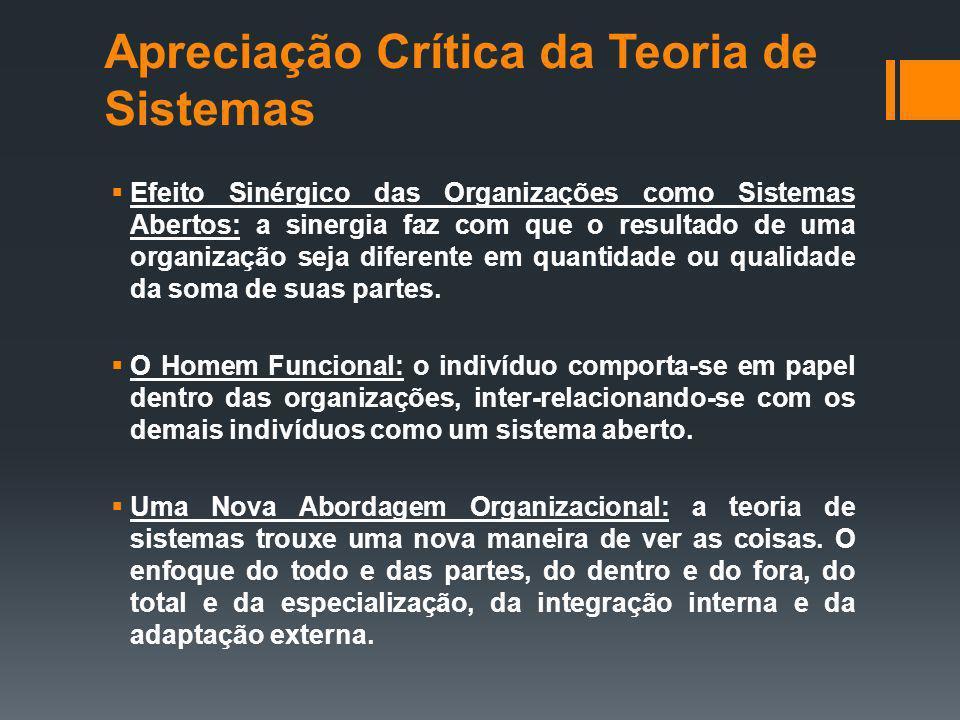 Apreciação Crítica da Teoria de Sistemas