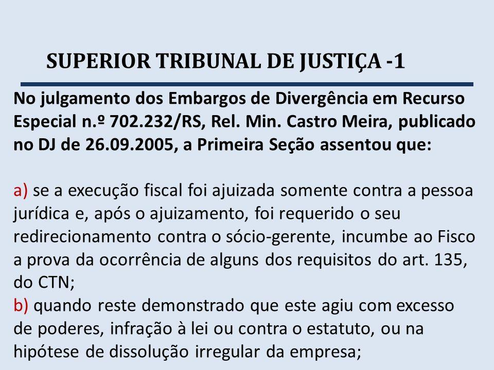 SUPERIOR TRIBUNAL DE JUSTIÇA -1