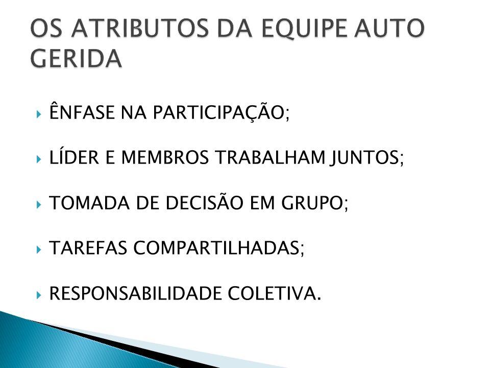 OS ATRIBUTOS DA EQUIPE AUTO GERIDA
