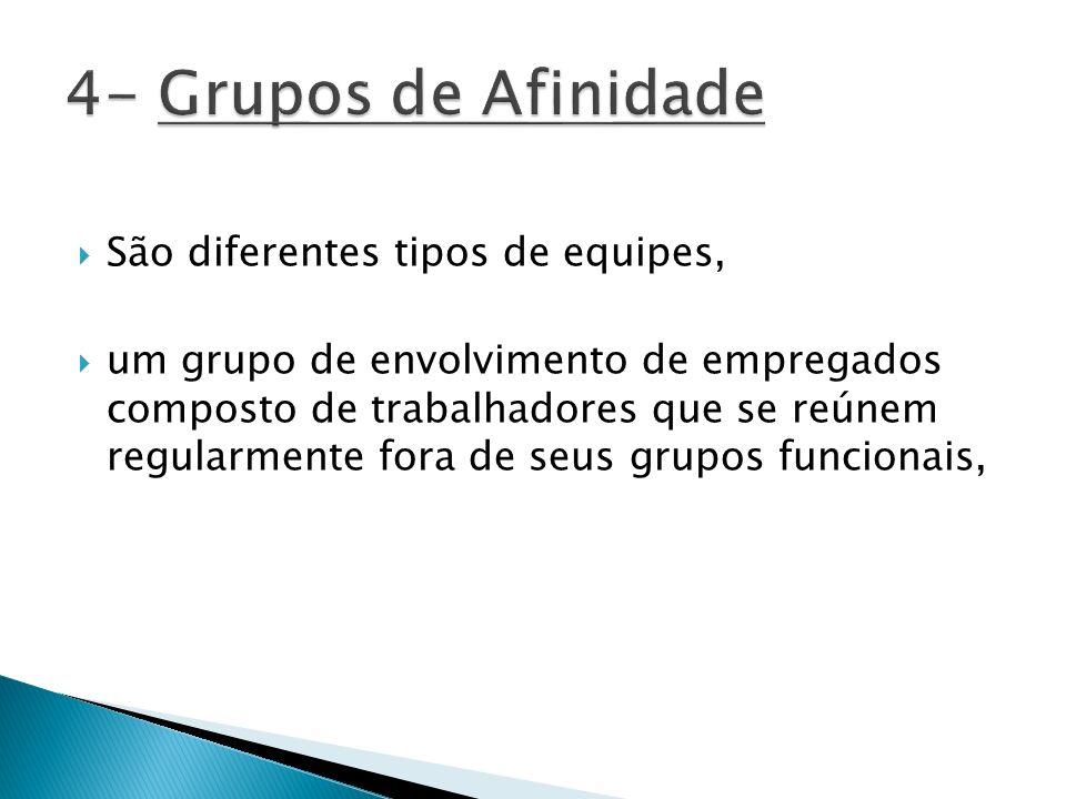 4- Grupos de Afinidade São diferentes tipos de equipes,