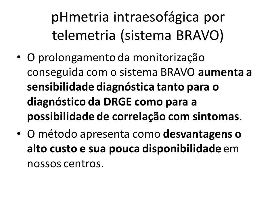 pHmetria intraesofágica por telemetria (sistema BRAVO)