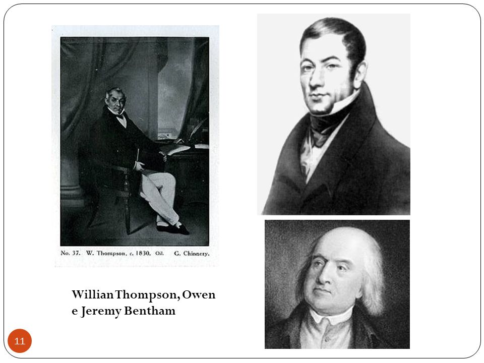 Willian Thompson, Owen e Jeremy Bentham
