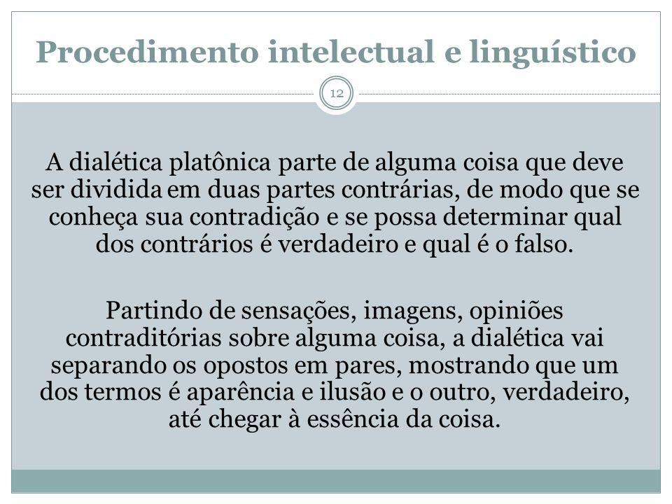Procedimento intelectual e linguístico