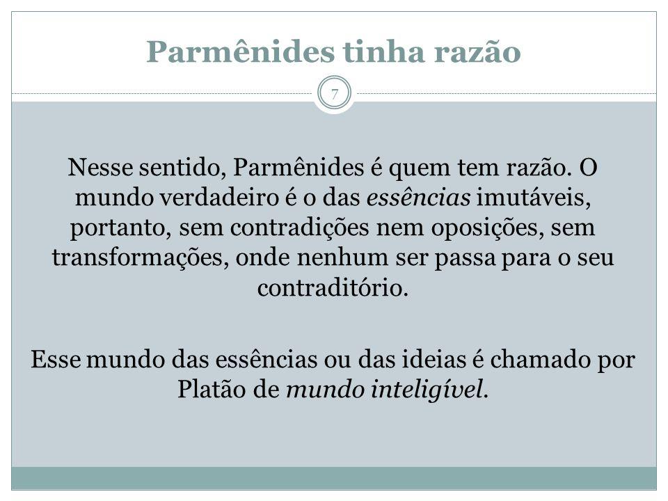 Parmênides tinha razão