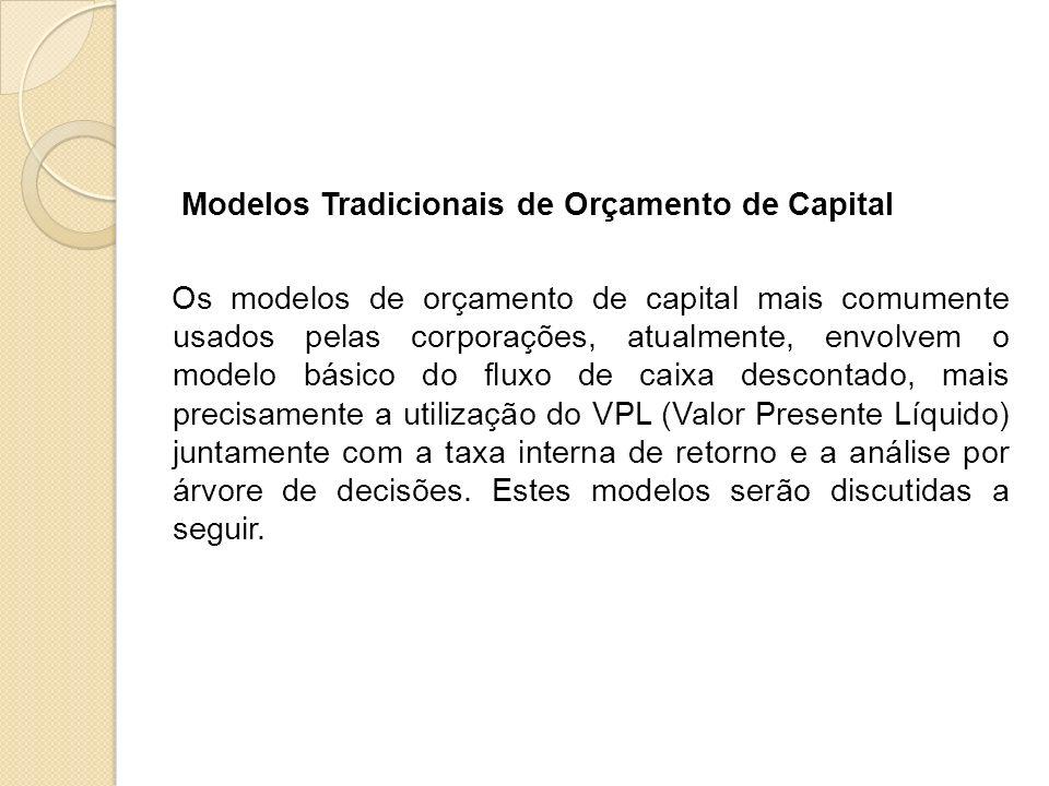 Modelos Tradicionais de Orçamento de Capital