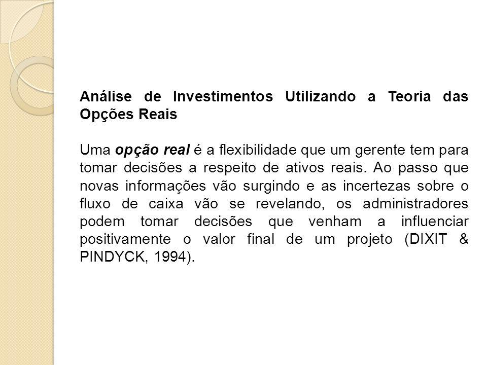 Análise de Investimentos Utilizando a Teoria das Opções Reais
