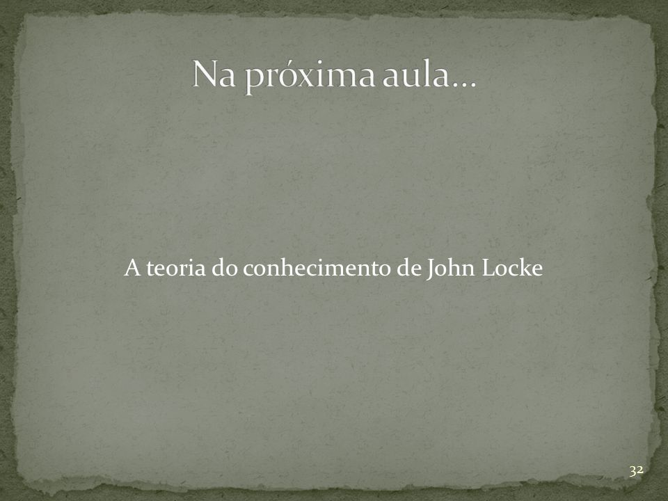 A teoria do conhecimento de John Locke