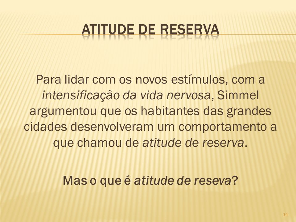 Atitude de reserva