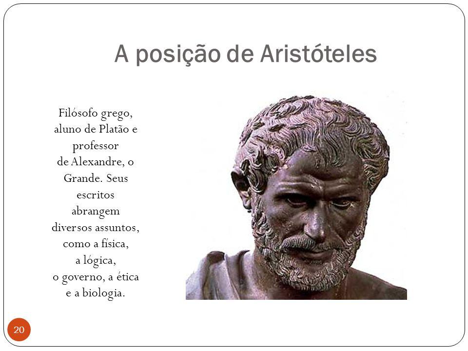 A posição de Aristóteles