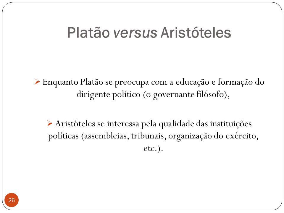 Platão versus Aristóteles