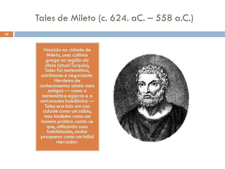 Tales de Mileto (c. 624. aC. – 558 a.C.)