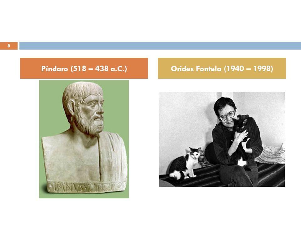 Píndaro (518 – 438 a.C.) Orides Fontela (1940 – 1998)