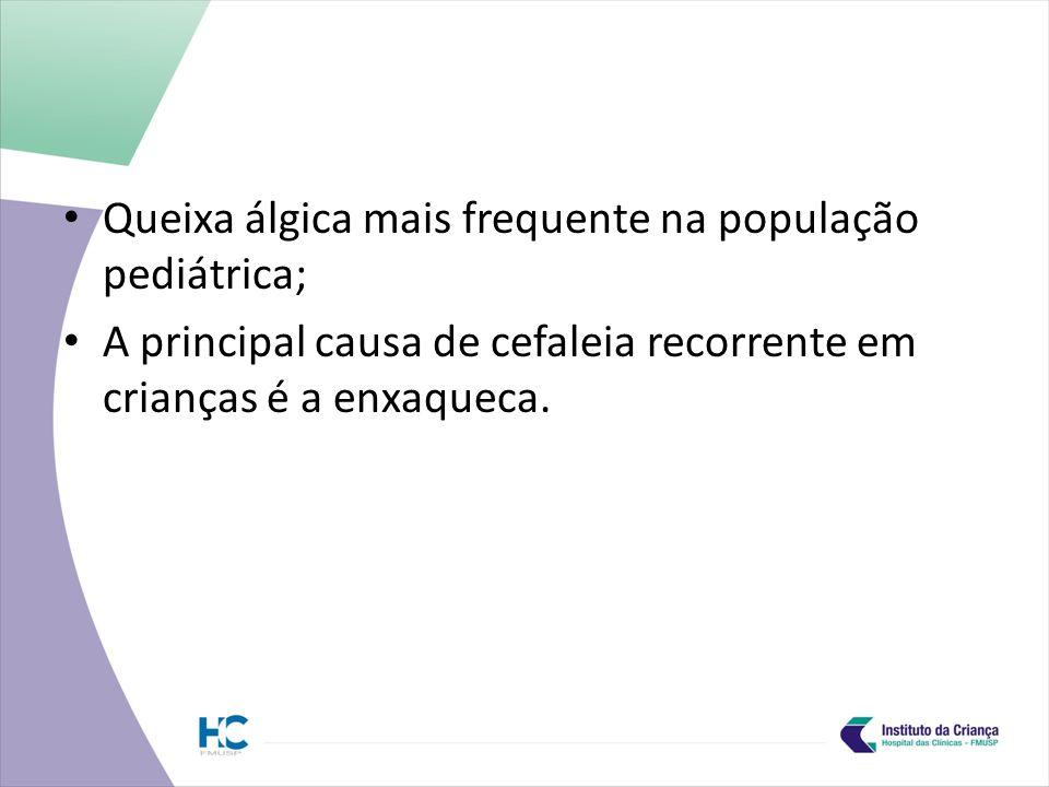 Queixa álgica mais frequente na população pediátrica;