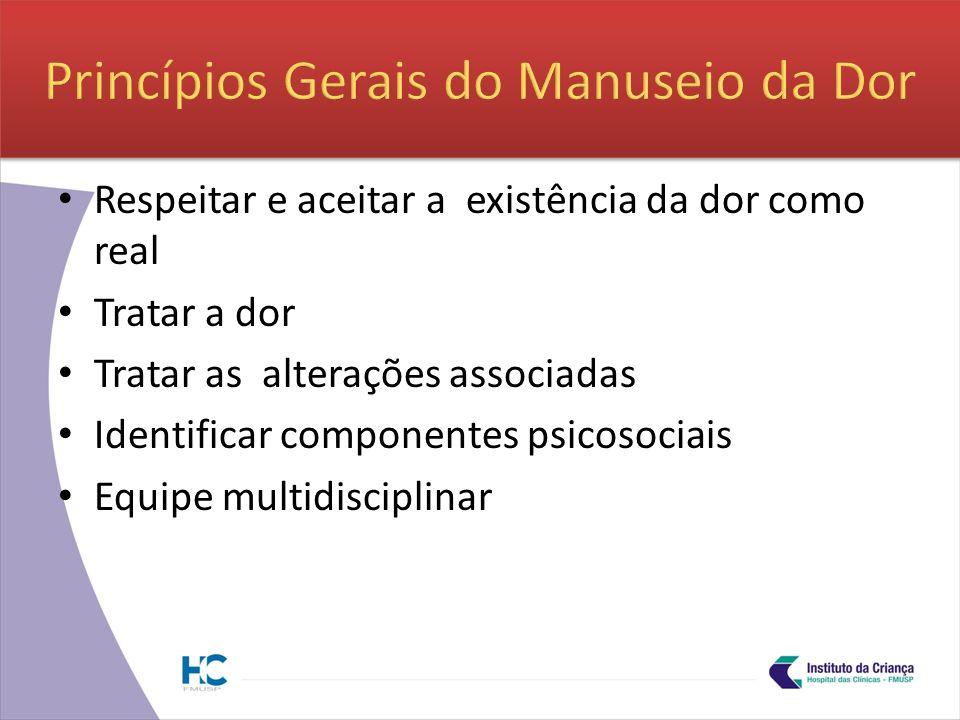 Princípios Gerais do Manuseio da Dor