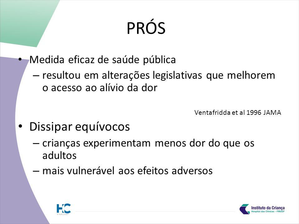 PRÓS Dissipar equívocos Medida eficaz de saúde pública