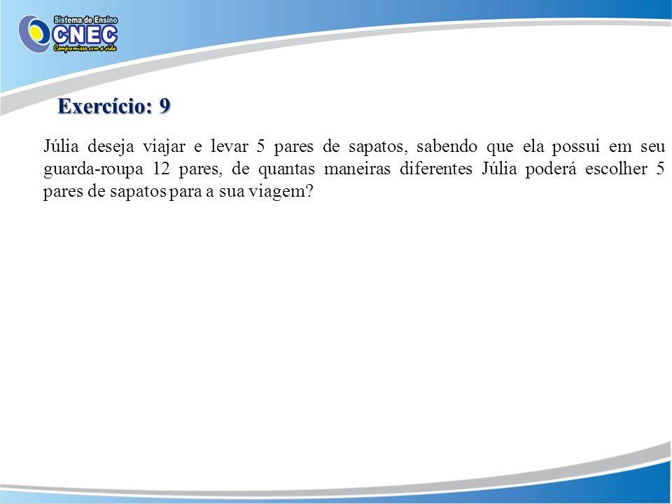 Exercício: 9