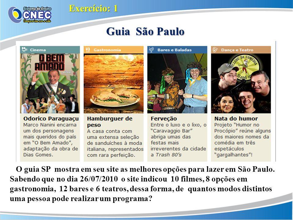 Guia São Paulo Exercício: 1