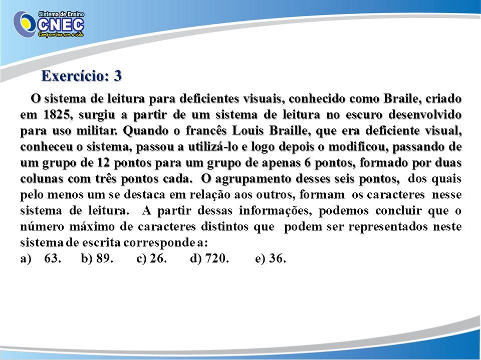 Exercício: 3