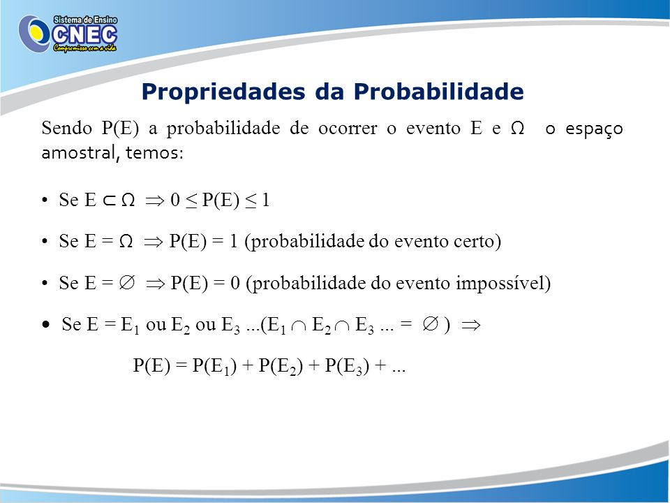 Propriedades da Probabilidade