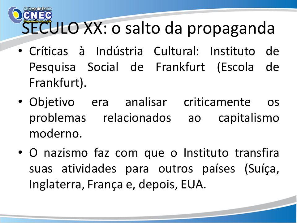 SÉCULO XX: o salto da propaganda