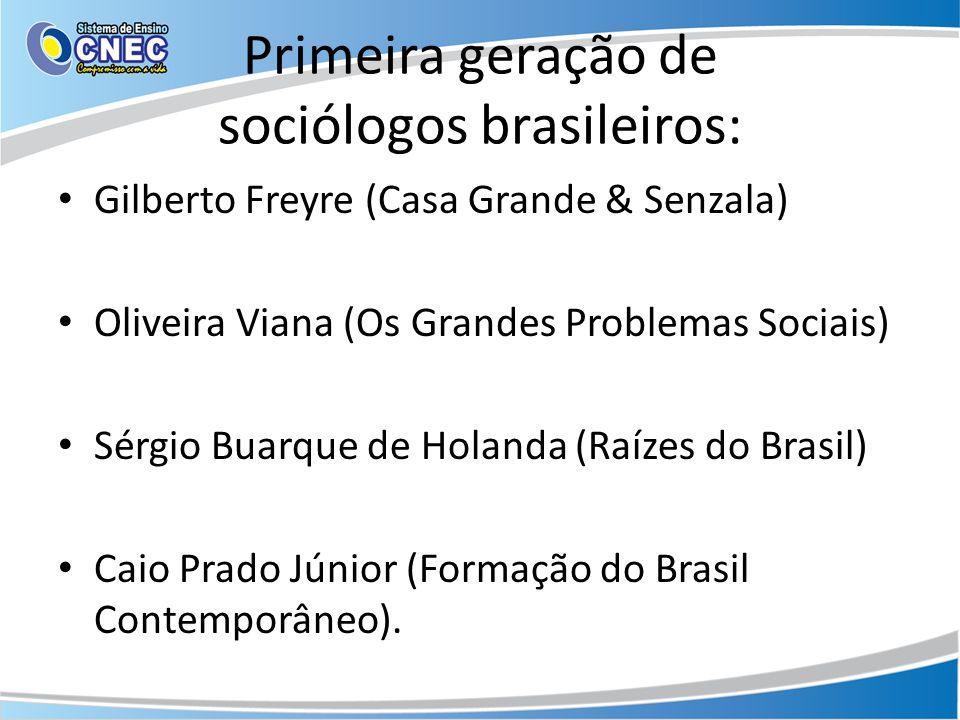 Primeira geração de sociólogos brasileiros: