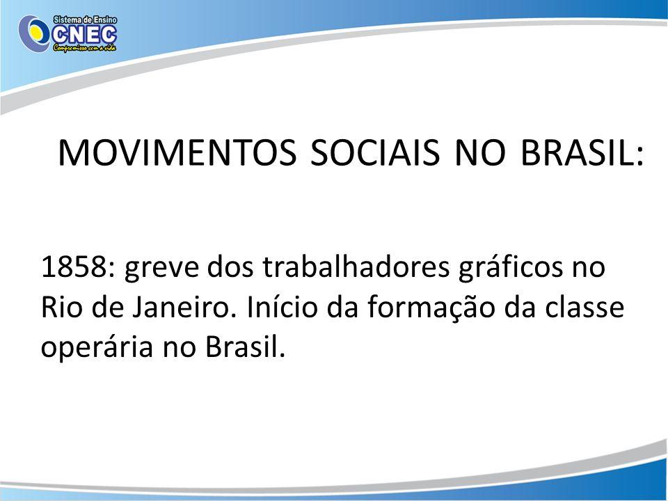 MOVIMENTOS SOCIAIS NO BRASIL: