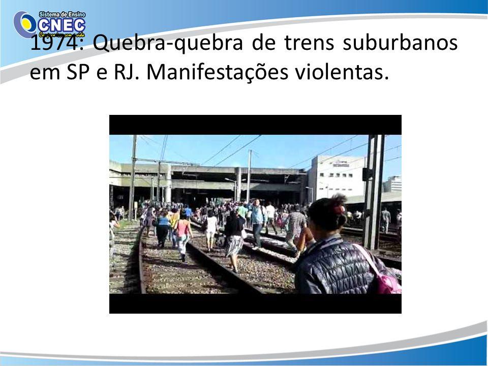 1974: Quebra-quebra de trens suburbanos em SP e RJ