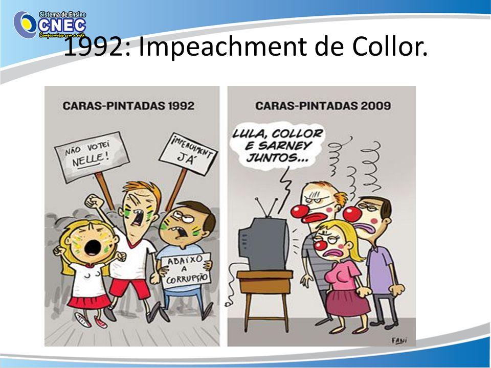 1992: Impeachment de Collor.