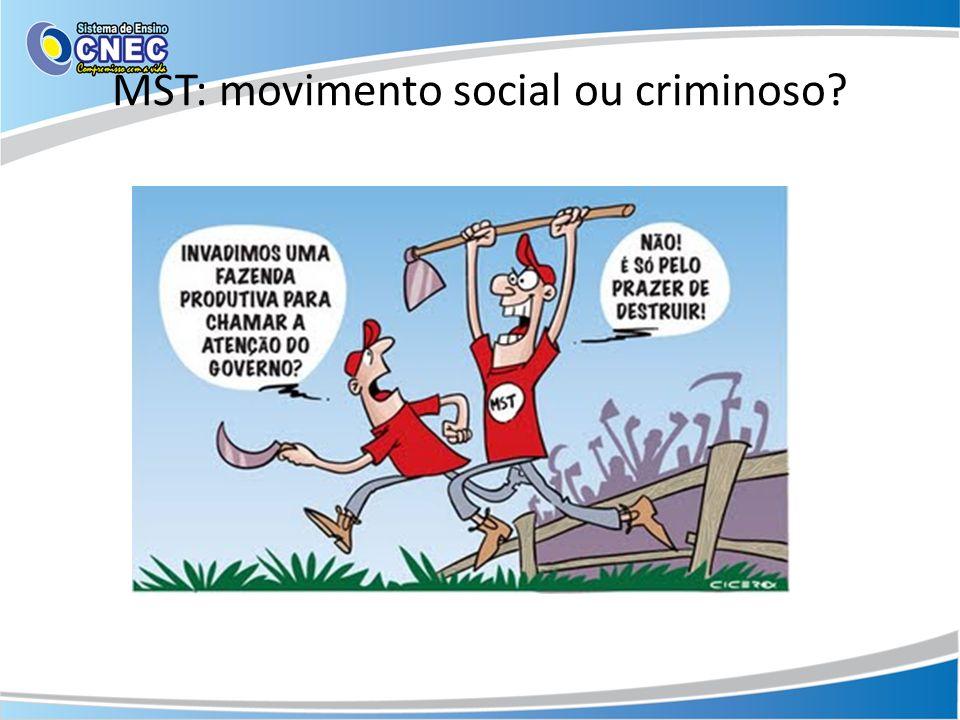 MST: movimento social ou criminoso