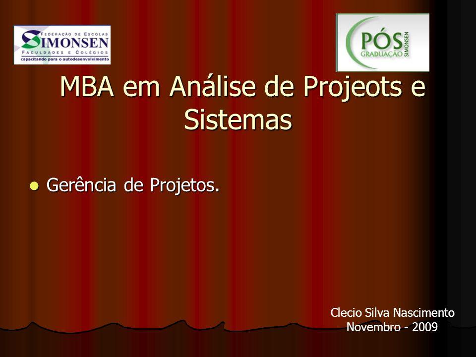 MBA em Análise de Projeots e Sistemas
